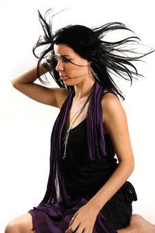 Free Hispanic Girl With Long Hair Stock Photo - 8970610