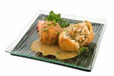 Fish Cakes With Salmon Royalty Free Stock Photography