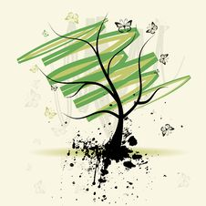 Free Art Tree, Grunge Background Royalty Free Stock Photography - 8970707