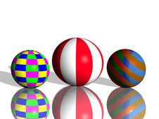 Free Coloured 3d Balls Stock Photos - 8970953