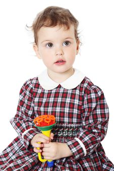 Free Little Girl In Checkered Dress Stock Photography - 8971662