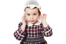 Free Little Girl In Checkered Dress Stock Photo - 8971690