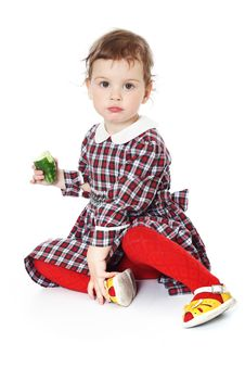 Free Little Girl In Checkered Dress Stock Photo - 8971720