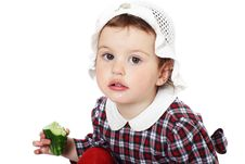 Free Little Girl In Checkered Dress Stock Photography - 8971722