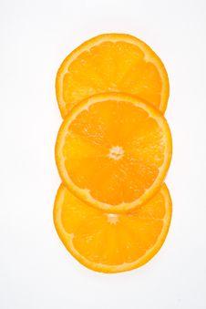 Free Three Orange Slices Royalty Free Stock Photos - 8972048