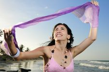 Free Joyful Summer Girl Royalty Free Stock Image - 8972066