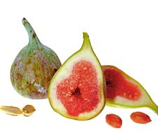 Free Ripe Sliced Figs Royalty Free Stock Image - 8972246