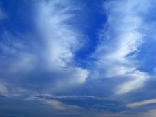 Blue Sky With Small Clouds Royalty Free Stock Images