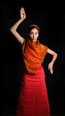Free Female Flamenco Dancer Royalty Free Stock Photos - 8972798