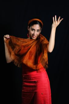 Free Flamenco Dance Woman Stock Photography - 8972842