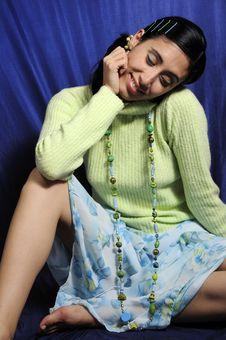 Free Cheerful Latina Girl Stock Image - 8972911
