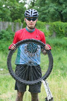 Free Mountain Bike Racer Royalty Free Stock Image - 8973166