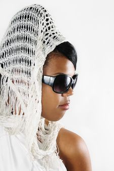 African Beauty Wearing Sunglasses Stock Image