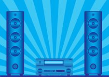 Free Two Loudspeakers And The Receiver Stock Images - 8974594