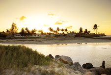 Free Sunset Beach Landscape Stock Photography - 8974952