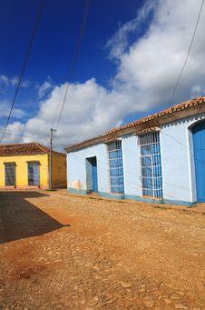 Street In Trinidad, Cuba Royalty Free Stock Photos
