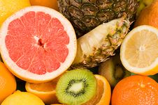 Background Of Fresh Citrus Fruits Royalty Free Stock Photography