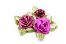 Free Flowers From Satiny Tapes Royalty Free Stock Photography - 8975347
