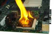 Free Burning Processor Stock Images - 8976244