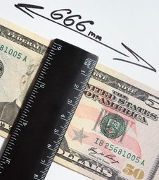Free Dollar 666 Millimetre Stock Photos - 8976543