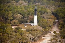 Lighthouse Aerial Stock Image