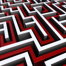 Free Maze With Exit Path Stock Image - 8977291
