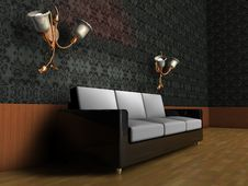 Free 3-seater Sofa In The Middle Stock Photography - 8977362