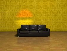 Free 3-seater Sofa In The Middle Stock Photography - 8977382