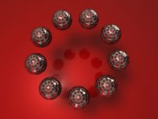 Free Frame Spheres Making Up A Circle Royalty Free Stock Images - 8977439