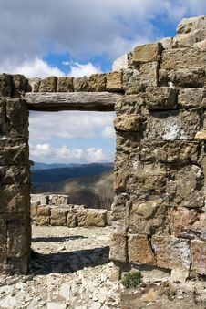 Free Ruins In The Mountains Royalty Free Stock Photo - 8978505