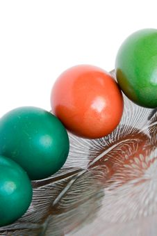 Free Four Colored Eggs Royalty Free Stock Photography - 8979377