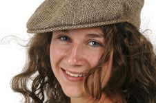 Teenage Girl In Ivy Cap Royalty Free Stock Images