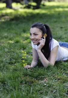 Free Girl Talking Over The Phone Royalty Free Stock Images - 8979839