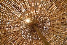 Free Wicker Umbrella Abstraction Stock Images - 89741094