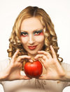 Free Young Blonde With Fruits Stock Image - 8981081