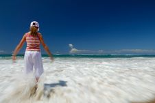 Free Girl On Beach Stock Photos - 8980653