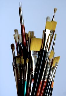 Free Paintbrushes Stock Photo - 8981190