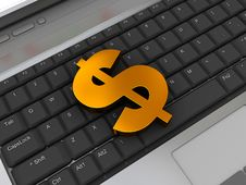 Dollar Sign On Keyboard Royalty Free Stock Images