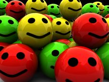 Free Smileys Heap Stock Photography - 8981462
