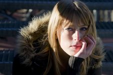 Free Young Female With Pensive Expression Royalty Free Stock Photography - 8981687