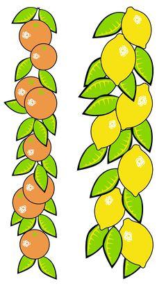Illustration  Of Oranges And Lemons Royalty Free Stock Photo