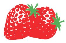 Illustration Of A Still Life Of Strawberries Stock Photography