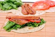 Free BLT Wrap Royalty Free Stock Image - 8983486