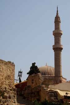 Mosque And Minaret Royalty Free Stock Photo