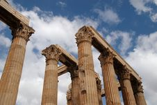 Free Columns And Capitals, Athens, Greece Stock Image - 8983721