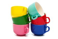 Free Color Cups Royalty Free Stock Images - 8983799