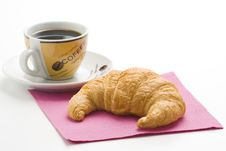 Free Continental Breakfast Of Coffee And Croissants Stock Photos - 8983903