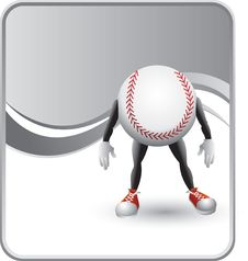 Free Classy Silver Baseball Cartoon Man Stock Photo - 8984300
