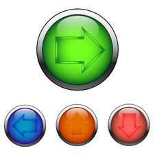 Free Navigation Color Buttons Stock Photos - 8984313