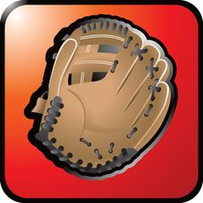 Free Baseball Glove Web Red Icon Royalty Free Stock Photo - 8984375